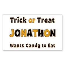 Jonathon Trick or Treat Rectangle Decal