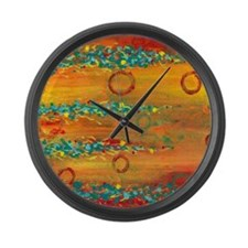 Fiesta Abstract Large Wall Clock
