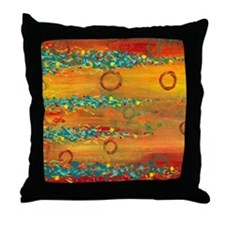 Fiesta Abstract Throw Pillow