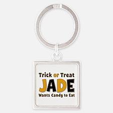 Jade Trick or Treat Square Keychain