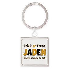 Jaden Trick or Treat Square Keychain