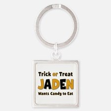 Jaden Trick or Treat Square Keychain