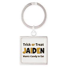 Jaiden Trick or Treat Square Keychain