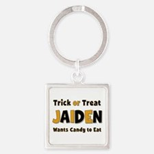 Jaiden Trick or Treat Square Keychain