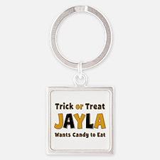 Jayla Trick or Treat Square Keychain