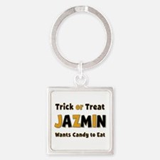 Jazmin Trick or Treat Square Keychain