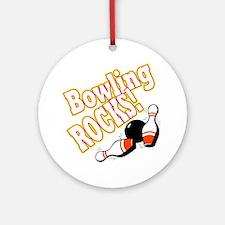 Bowling Rocks! Ornament (Round)
