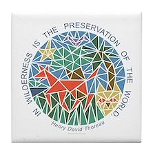 Cute Thoreau Tile Coaster