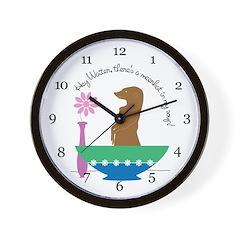 Meerkat Soup Wall Clock