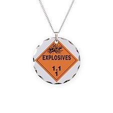 Orange Explosives Warning Si Necklace