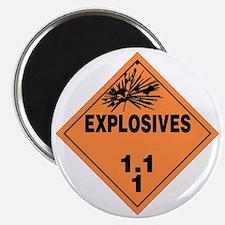 Orange Explosives Warning Sign Magnet