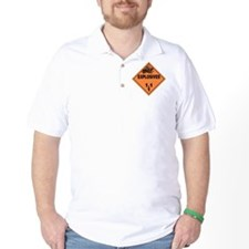 Orange Explosives Warning Sign T-Shirt