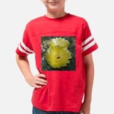 Yellow Barrel Cactus Flowers Youth Football Shirt