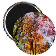 "Autumn Trees Oil Painting 2.25"" Magnet (100 pack)"