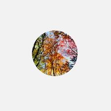 Autumn Trees Oil Painting Mini Button