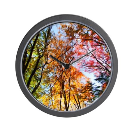 Autumn Trees Oil Painting Wall Clock