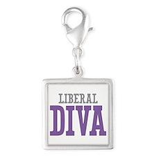 Liberal DIVA Silver Square Charm