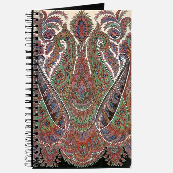 elegant peacock paisley vintage design Journal
