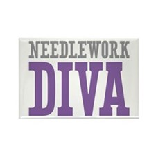 Needlework DIVA Rectangle Magnet