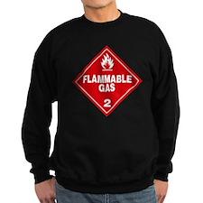 Red Flammable Gas Warning Sign Sweatshirt
