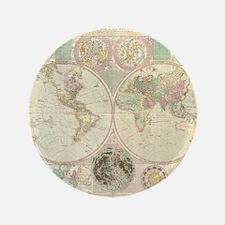 """Bowles Antique Map 3.5"""" Button"""