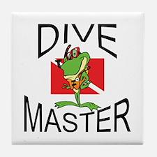 Dive Master SCUBA Tile Coaster
