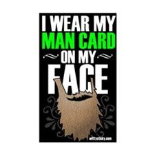 Wear Your Man Card Big Decal