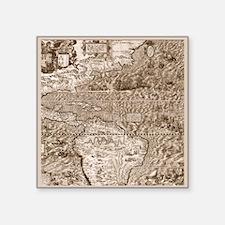 "Gutierrez Antique Map Square Sticker 3"" x 3"""
