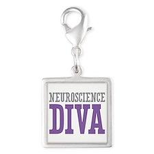 Neuroscience DIVA Silver Square Charm