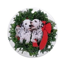 Dalmatian Pups Ornament (Round)