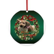 Agility Puppy Keepsake/ Ornament (Round)