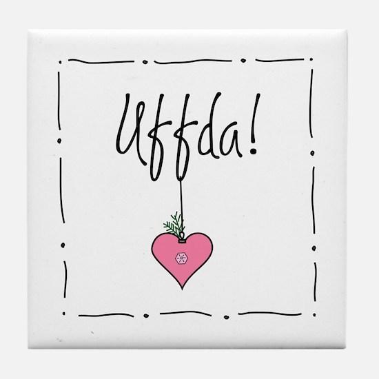 Christmas Uffda! Tile Coaster