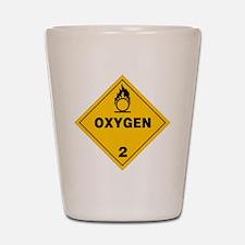 Yellow Oxygen Warning Sign Shot Glass