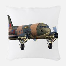 C-47 Skytrain Woven Throw Pillow