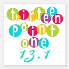 """Thirteen Point One 13.1 Square Car Magnet 3"""" x 3"""""""