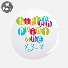 "Thirteen Point One 13.1 3.5"" Button (10 pack)"
