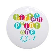 Thirteen Point One 13.1 Ornament (Round)