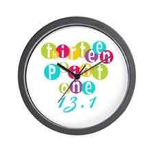 Thirteen Point One 13.1 Wall Clock