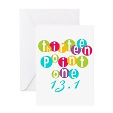 Thirteen Point One 13.1 Greeting Card