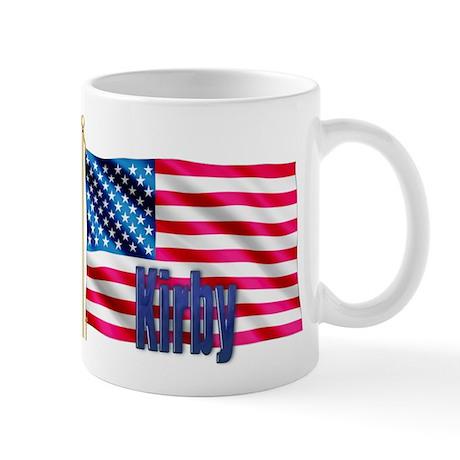 Kirby Personalized American Flag Gift Mug