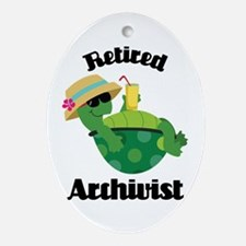 Retired Archivist Gift Ornament (Oval)