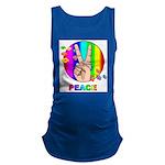 Colorful Peace Symbol Maternity Tank Top