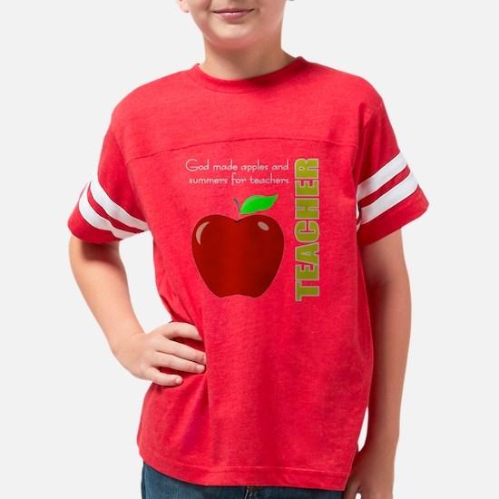 Teachers God Apples Youth Football Shirt