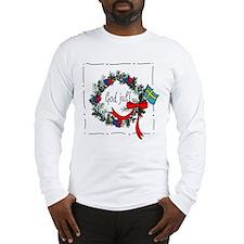 Scandinavian Christmas Themed Long Sleeve T-Shirt