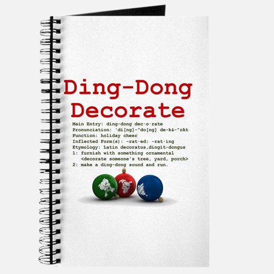 Ding-Dong Decorate Journal