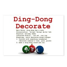 Ding-Dong Decorate Postcards (Package of 8)