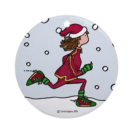 Cool Runnings Woman Ornament (Round)
