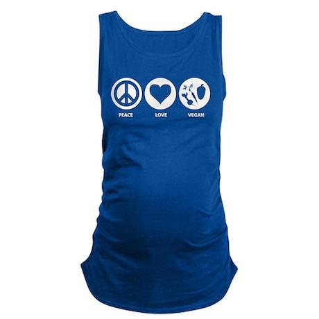 Peace Love Vegan Maternity Tank Top