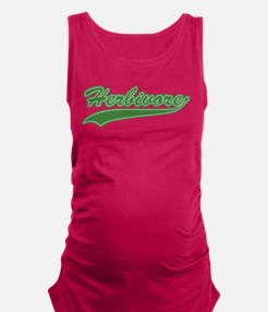 Retro Herbivore Maternity Tank Top