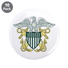 """Navy 3.5"""" Button (10 pack)"""